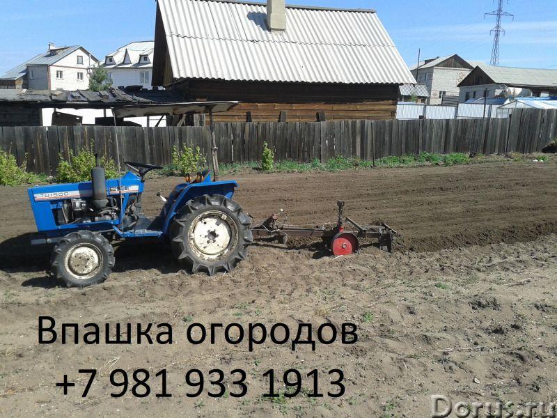 Вспашка огородов - Прочие услуги - Маленький трактор может вспахивать землю плугом или навесным куль..., фото 1