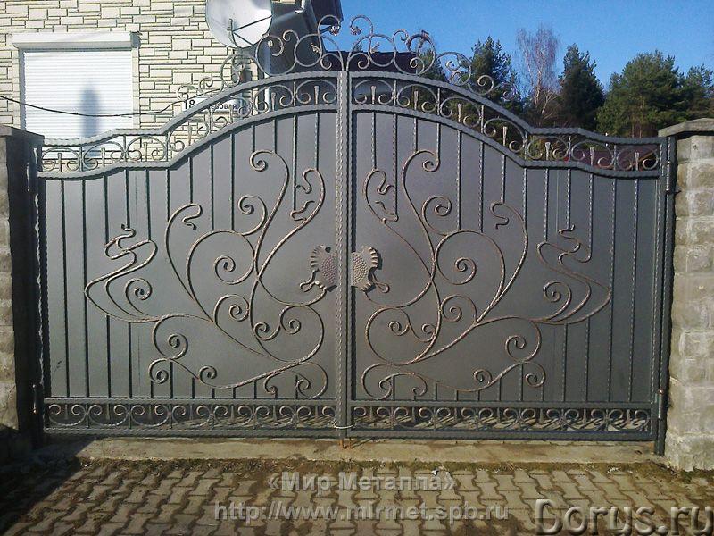 Кованые ворота - Металлопродукция - Большое разнообразие кованых ворот от простых сварных конструкци..., фото 1