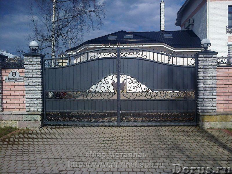 Кованые ворота - Металлопродукция - Большое разнообразие кованых ворот от простых сварных конструкци..., фото 2